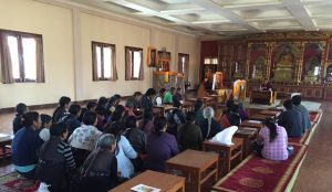 Sunday teaching in Tibetan