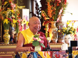 Khenchen Appey Rinpoche at IBA