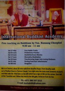 Saturday teaching program