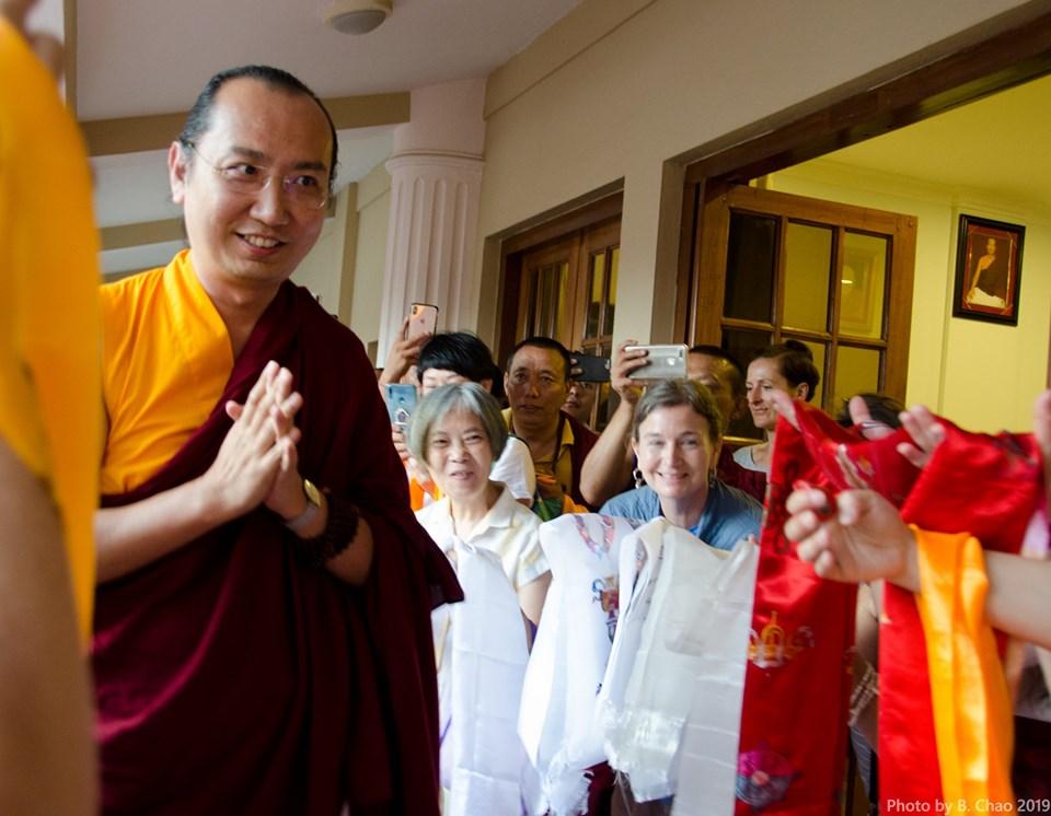 HH 42nd Sakya Trizin arrives at IBA